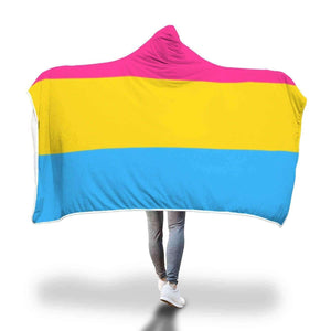 Hooded Blanket - Pansexual Flag Hooded Blanket