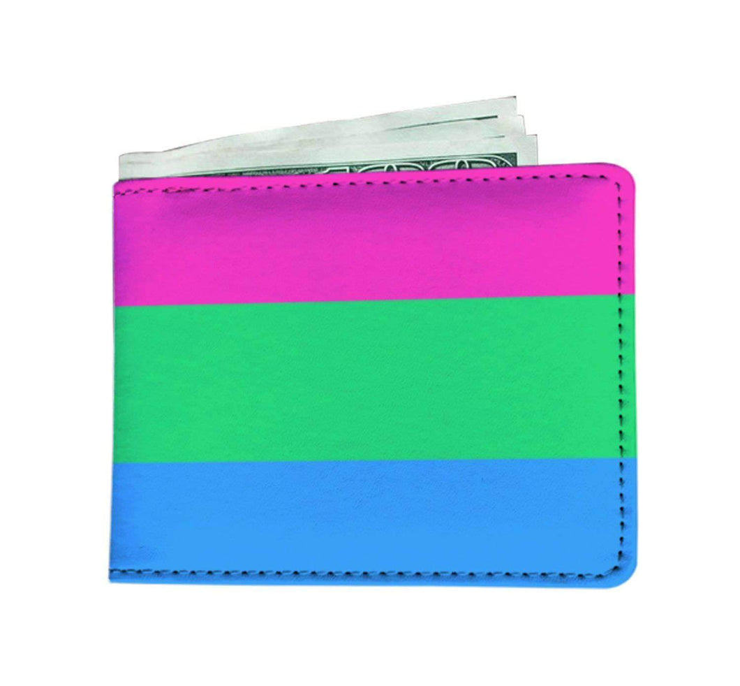 Mens Wallet - Polysexual Pride - Wallet