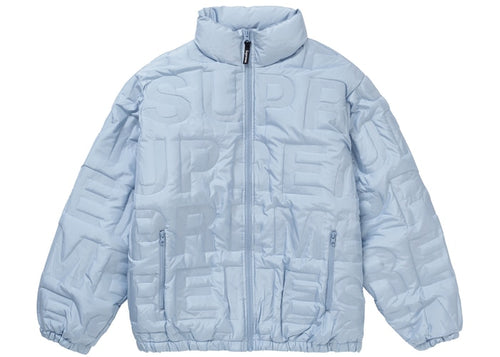 Supreme SS19 Bonded Logo Down Puffer Jacket-Ice Blue