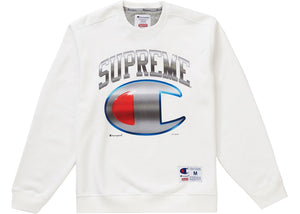 Supreme SS19 Champion Chrome Crewneck White