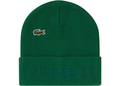 Supreme FW19 Lacoste Beanie Green