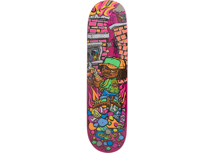 Supreme Molotov Kid Skateboard Deck Pink