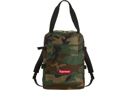 Supreme SS19 Tote Backpack Woodland Camo