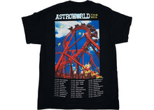 Load image into Gallery viewer, Travis Scott Astroworld Roller Coaster Tee Black