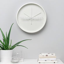 "Load image into Gallery viewer, Virgil Abloh x IKEA MARKERAD ""TEMPORARY"" Wall Clock"