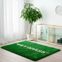 "Load image into Gallery viewer, Virgil Abloh x IKEA MARKERAD ""WET GRASS"" Rug Green"