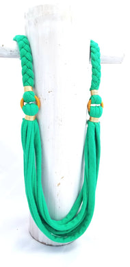 Fleurdeliz Necklace in Green by Lumago