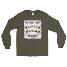 Load image into Gallery viewer, Beer and Karaoke Men's Long Sleeve Shirt