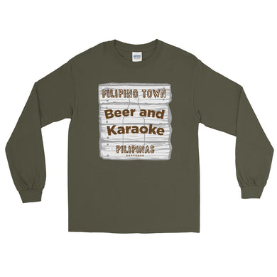 Beer and Karaoke Men's Long Sleeve Shirt