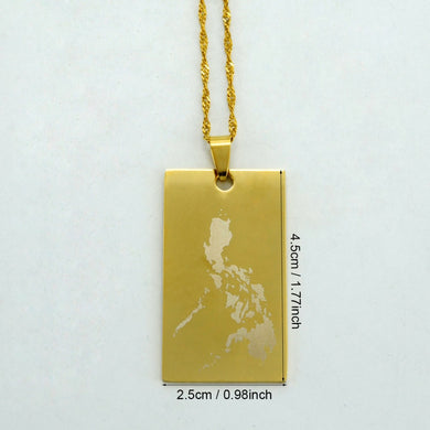 Republic of the Philippines Map Pendant