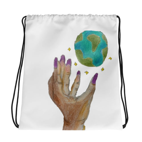 The World's Yours Drawstring bag