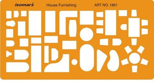 Isomars 1:100 Scale Architectural Drawing Template - Furniture Symbols for House Interior Floor Plan Design