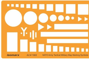 Isomars NATO Troops Movement Army Tactical Military Map Marking Symbols Drawing Template