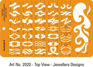 Isomars Jewelry Rings Drawing Stencil (Set of 6)