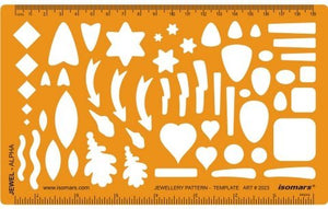Isomars Jewellery Design Template - Shapes of Arrows, Leaves, Stars, Squares, Hearts