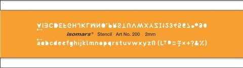 Isomars Lettering Guide Drawing template Stencil 2 mm