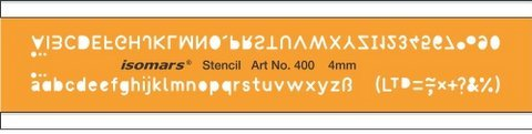 Isomars Lettering Guide Drawing Template Stencil 4mm