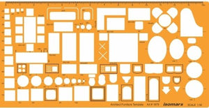 Isomars Architectural Drawing Template Stencil (1:50 Scale)