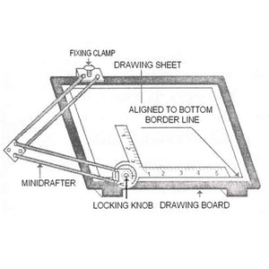 Isomars Drawing Board with Mini Drafter - A2 size 18.5'' x 25''