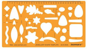 Isomars Assorted Shapes Drawing Stencil for Jewelry Designing