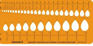 Isomars Pear Brilliant Diamond Colored Gemstone Guide Oval Shapes Symbols Drawing Drafting Template Stencil