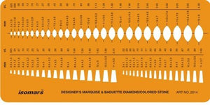 Isomars Baguette Diamond Colored Gemstone Guide Shapes Symbols Drawing Drafting Template Stencil