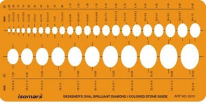 Isomars Brilliant Diamond Colored Gemstone Guide Oval Shapes Symbols Drawing Drafting Template Stencil