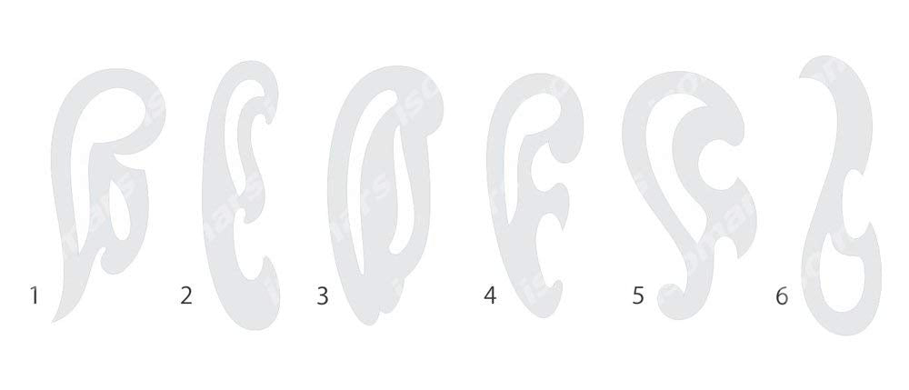 Isomars Set of 6 French Ship Curves Curve Drawing Drafting Template Stencil