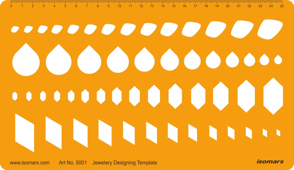 Isomars Jewellery Designing Template - Assorted Shapes