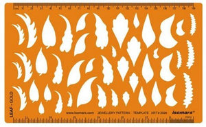 Isomars Tree Leaf Leaves Shapes Symbols Drawing Drafting Template Stencil