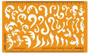 Isomars Ornaments and Curves Design Drawing Drafting Template Stencil