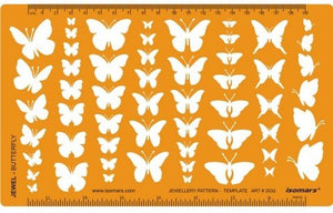 Isomars Butterfly Butterflies Shapes Symbols Drawing Drafting Template Stencil