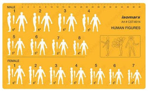 Isomars Human Position Figure Position Drafting and Drawing Template