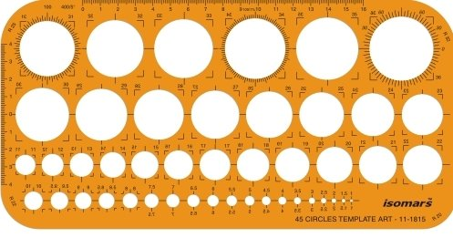 Isomars Metric Circle Shapes Drawing Stencil