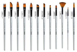 Isomars Color Mixing Palette with Professional Precision Art Brush Set of 12