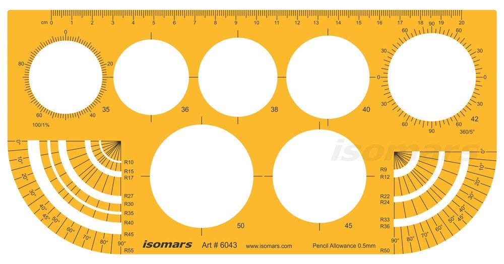 Isomars Technical Drawing Stencil