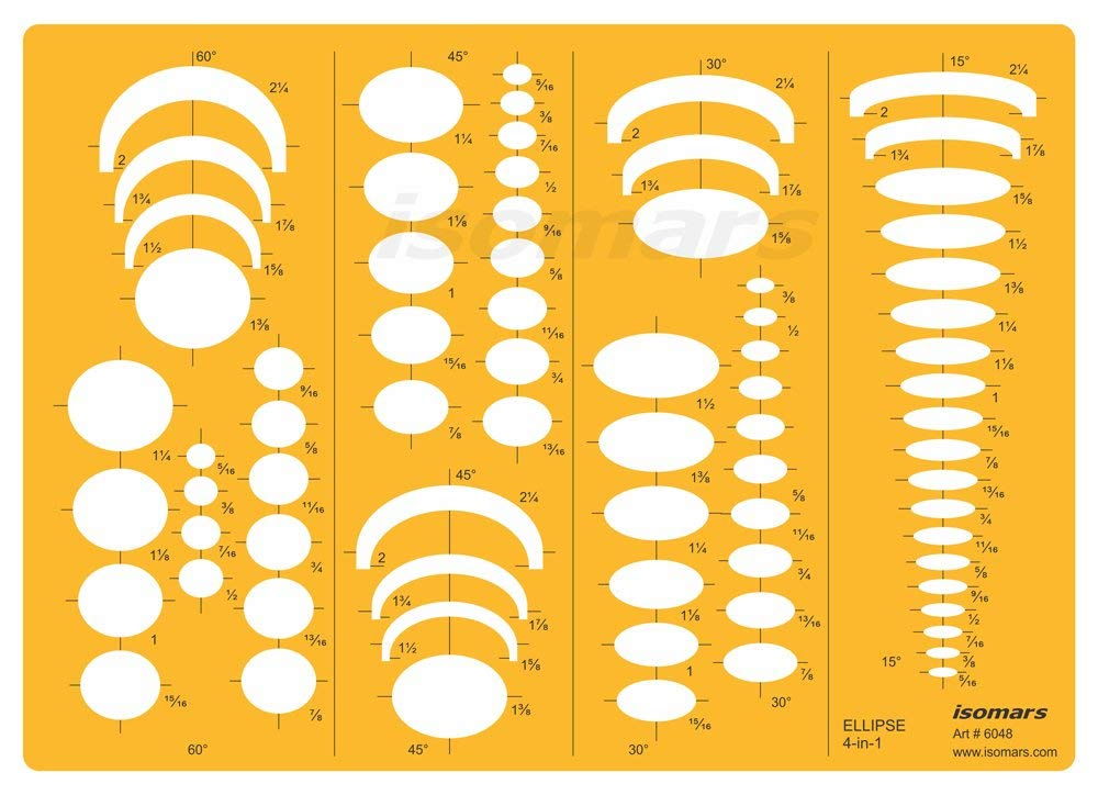 Isomars Four-In-One Ellipse Template