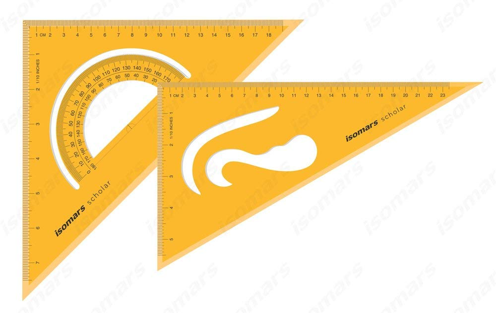 Isomars Set Squares Drafting Ruler
