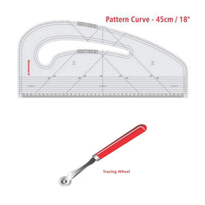 Isomars Pattern Curve and Marking Tracing Wheel Combo Set