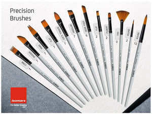 Isomars Artist Paint Brush Set 13 with Palette and Zippered Black Carry Bag