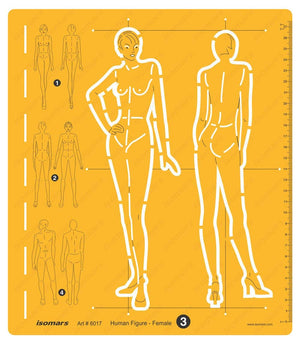 Isomars Female Human Figure Drafting and Design Template