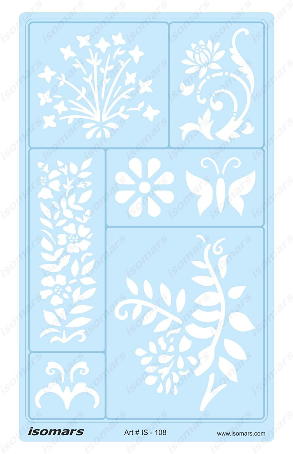 Isomars Flower Leaves Ornaments and Patterns Design Template