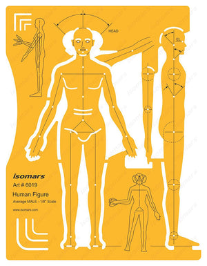 Isomars Male Human Figure Drafting and Design Template