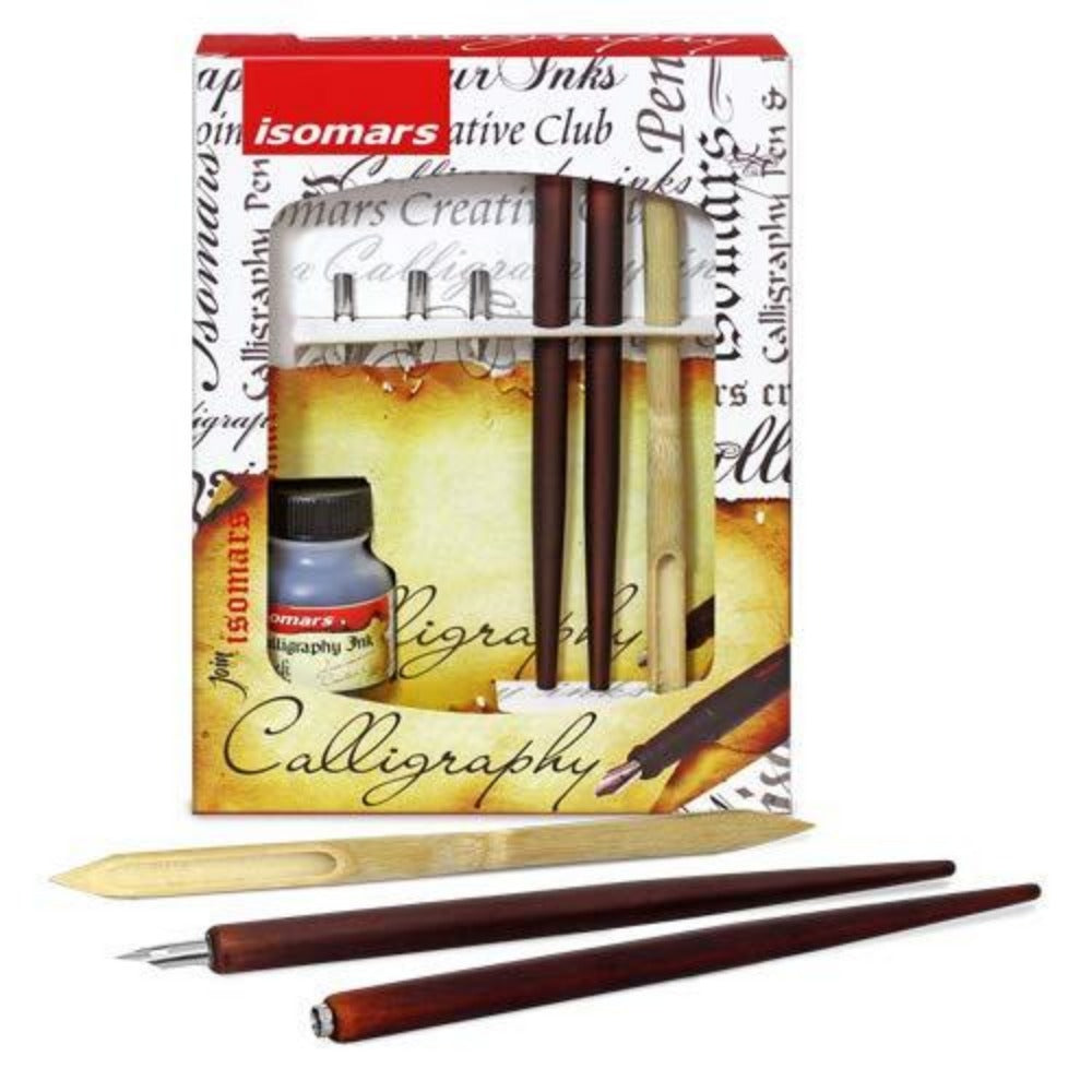 Isomars Calligraphy Pen Set Wood - Arabic