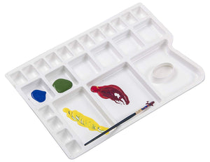 Isomars Color Mixing Palette with Round Paint Brushes