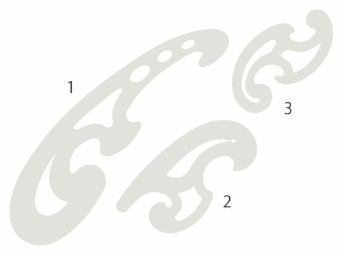 Isomars French Curves Set of 3 - Clear