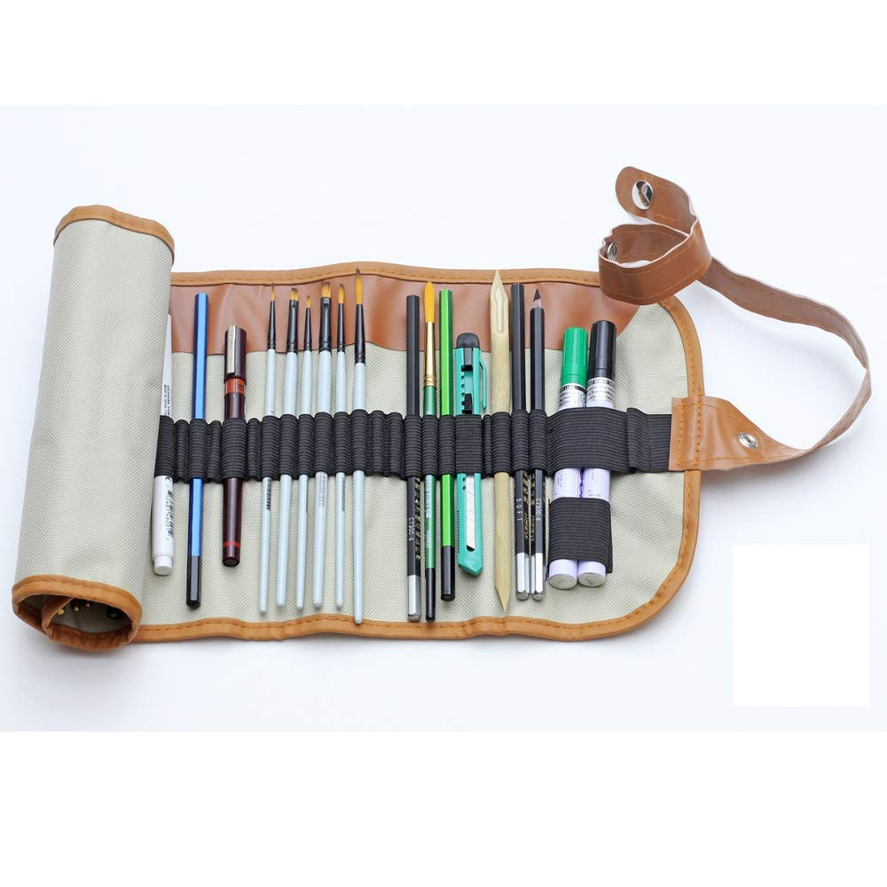 Isomars Canvas Pencil Wrap Case