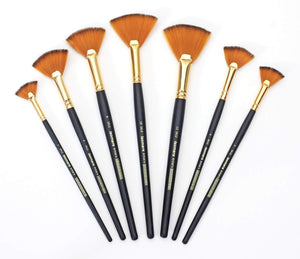Isomars Artist Brush Fan Set of 7