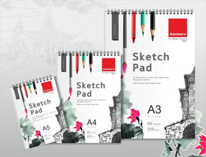 Isomars Sketch Pad - A5 with 40 Sheets