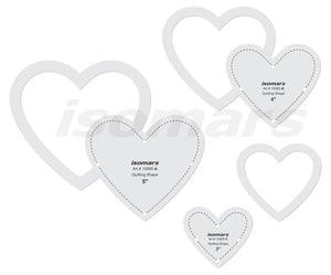 Isomars Heart Shaped Quilting Patchwork Scale Template Set of 3 Pcs